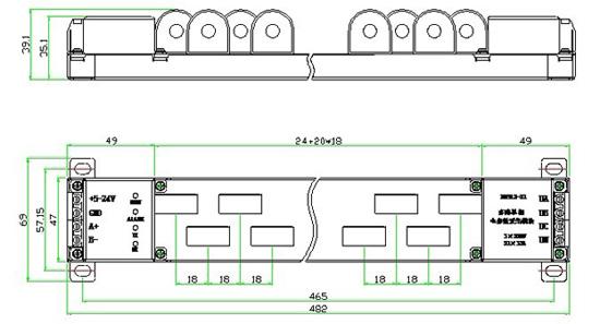 端子名称 定    义 端子名称 定    义  5-24v 直流供电电源输入
